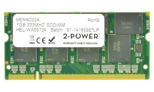 Satellite P10-722 1GB PC2700 333MHz SODIMM