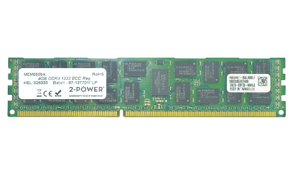 ProLiant DL380 G6 Entry 4GB DDR3 1333MHz ECC RDIMM